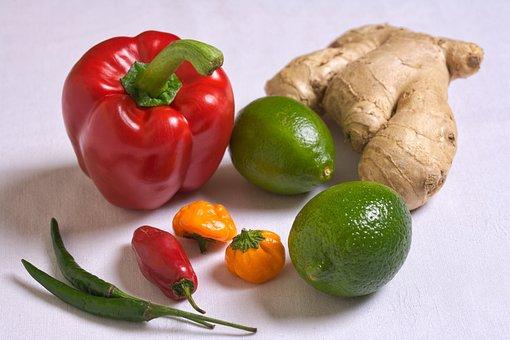 Fresh, Peppers, Vitamin, C, Food, Healthy, Vegetable