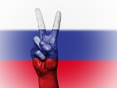 Russia, Peace, Hand, Nation, Background, Banner, Colors