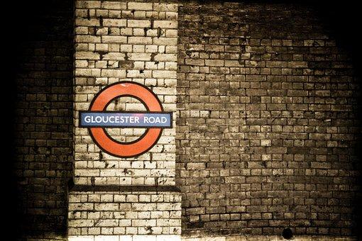 Metro, London, Brick, Panel, Signage, Metropolitan