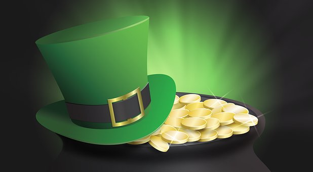 St Patrick's Day, Top Hat, Pot Of Gold