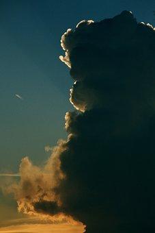 Thundercloud, Back Light, Threatening, Gloomy, Dark