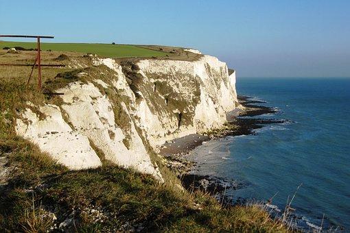 England, Litoral, Cliffs, Mar, Landscape, Stones, Water