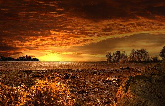 Sunset, Landscape, Nature, Background