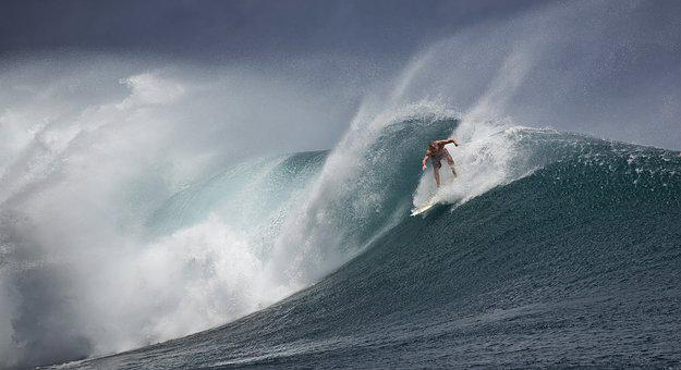 Surfing, Indonesia, Java Island, Ombak Tujuh, Big Waves