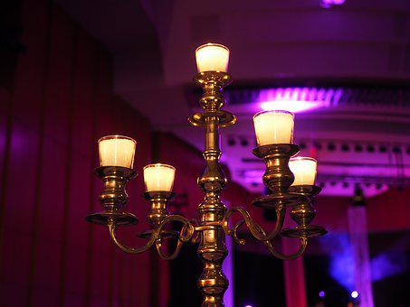 Candlestick, Atmosphere, Decoration, Candlelight