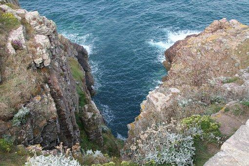 Cliff, Ocean, Atlantic Ocean, Cap Frehel