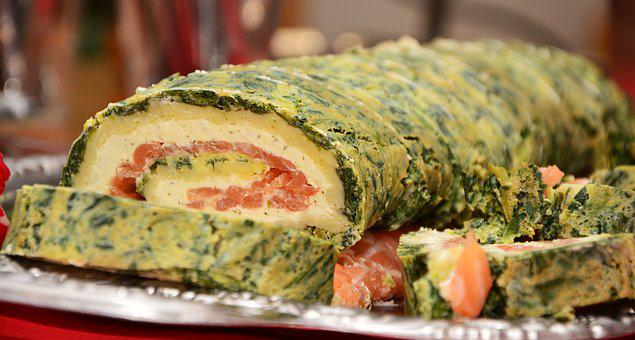 Salmon Roll, Salmon, Cream Cheese, Hearty, Nutrition