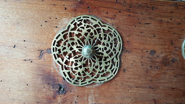 Doorknob, Lattice, Metalwork, Ancient, Old, Door