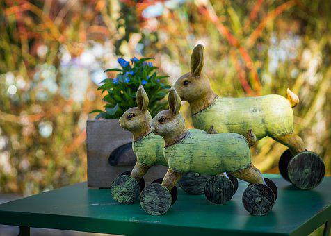 Easter, Rabbit, Wood, Spring, Easter Bunny, Dare