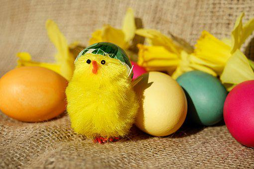 Easter Theme, Easter, Figure, Chicks, Yellow, Cute