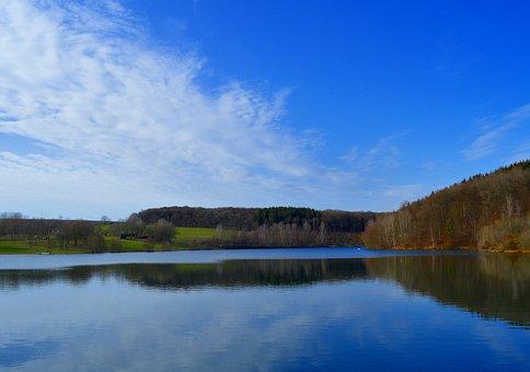 Free Linger Lake, Free Lingen, Eifel, Water, Lake
