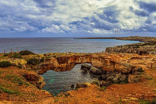 Cyprus, Cavo Greko, Korakas Bridge, Landscape, Sky