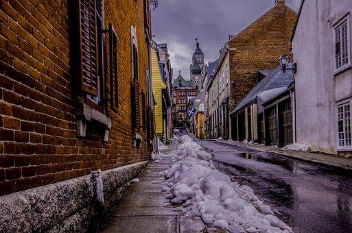 City, Lane, Quebec, Brick, Street, Wall, Pierre