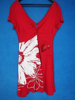 Dress, Summer Dress, Red, Tight Dress, Solemnly