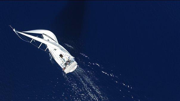 Bird's Eye View, Yacht, Sea, Sailboats, Water, Ships