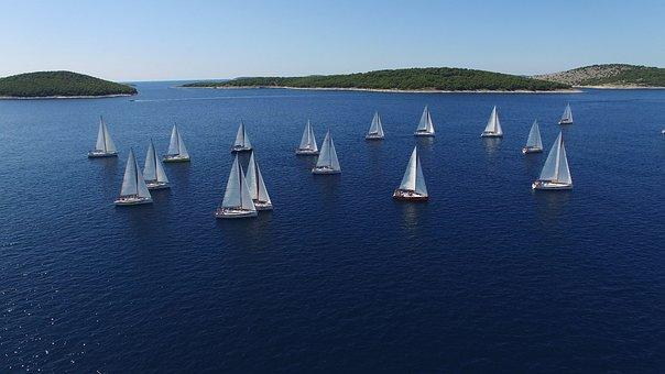 Regatta, Sailboats, Yachts, Water, Lake, Port, Sea