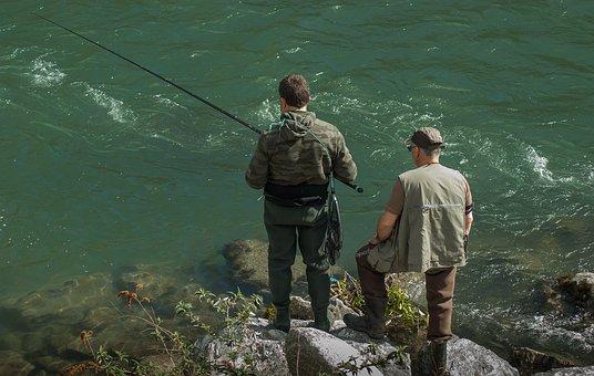 Fishermen, Fishing, Fishing Rod, Leisure, Water Courses