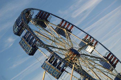 Dult, Fair, Color, Carousel, Blue, Year Market