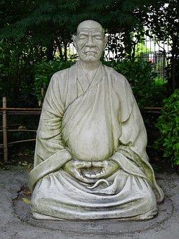 Zen, Monk, Statue, Buddhist, Buddhism, Sculpture