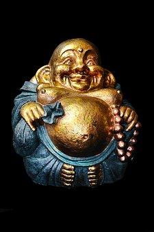 Laughing, Lucky, Buddha, Buddhism, Statue, Asian