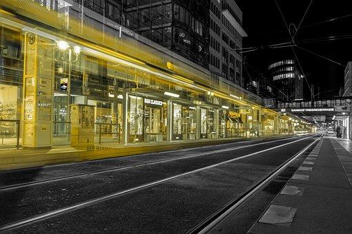 Tram, Berlin, Long Exposure, Germany, Capital
