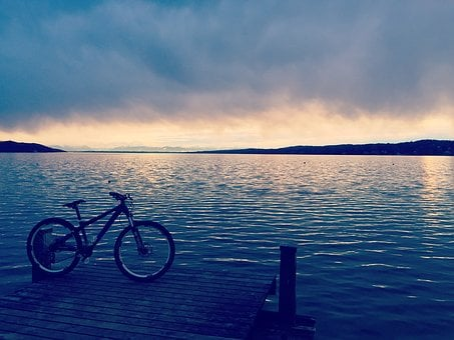 Lake, Weather, Cloudy, Rainy, Bike, Cloud, Mountain