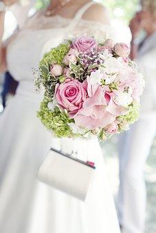 Bride, Bouquet, Wedding, Flowers, Love, Bridal Bouquet