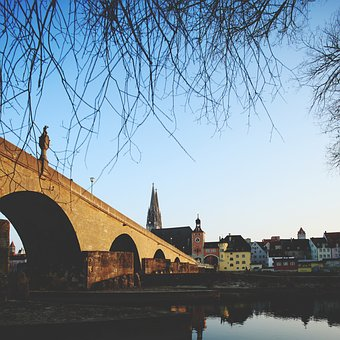 Regensburg, Bridge, Danube, City, Mood, Germany