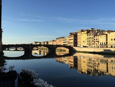 Florence, Bridge, Italy, Tuscany, Italian, Europe, City