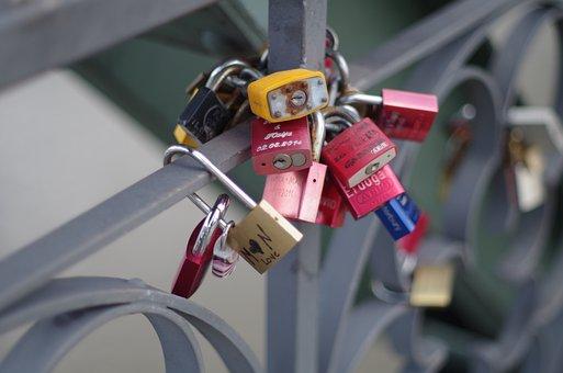 Locks, Bridge, Engagement, Marriage, Couple, Bride