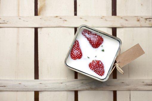 Strawberry, Milk, Box, Glass, Glass Jar, Delicious