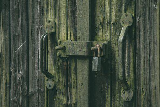 Lock, Door, Safety, Entrance, Home, Unlock, Wood