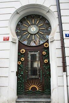 Prague, Old Town, Front Door, Art Nouveau, Decorative