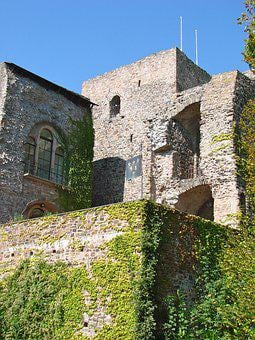 Castle, Germany, Ancient, Wine, Ivy, Old, Architecture