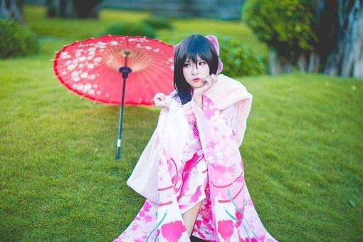 Kimono, Girl, Japanese, Japan, Female, Asian, Lady