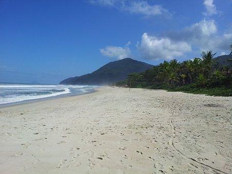 Beach, Maresias, Hotel, Holidays, Blue Sky, Beira Mar