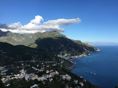 Sorrento, Cliff, Italy, Mediterranean, Landscape