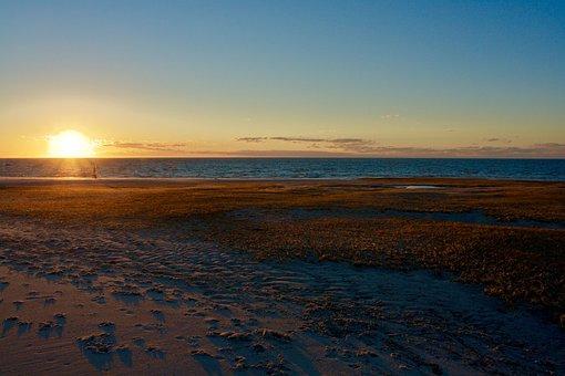 Sunset, Water, Nature, Sky, Sea, Beach, Sun, Landscape