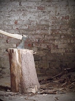Hack Stock, Wood, Ax, Axe, Make Wood, Chop Wood, Work