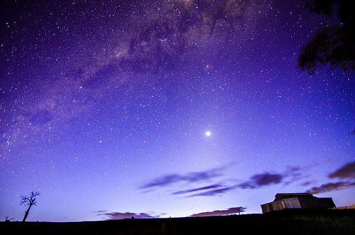 Milky Way, Stars, Galaxy, Space, Sky, Night, Milky, Way