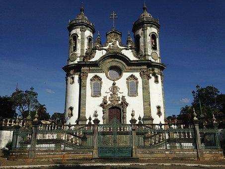 Church, Baroque, Minas, Brazil, Old City, Old, Rock