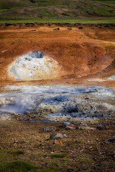 Volcano, Volcanic, Rock, Hot Spring, Hot Springs