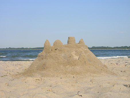 Beach, Sandburg, Sand Sculpture, Sand, Sea, Holiday