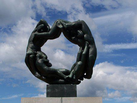 Oslo, Norway, Vigeland Park, Sculpture