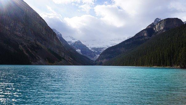 Lake Louise, Lake, Banff, Sky, De Lake In Melaka