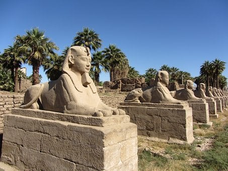 Pharaoh, Sphinx, Egypt, Old, Sculpture, Egyptian, Stone