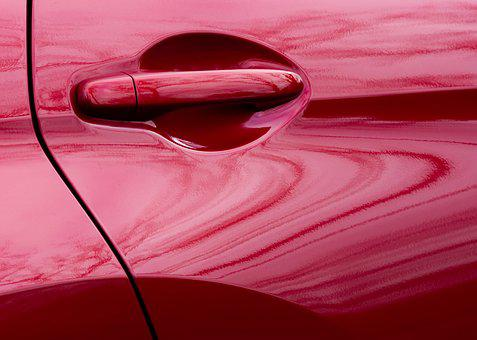 Car, Auto, Door, Handle, Automobile, Reflection, Swirl