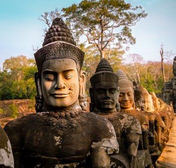 Cambodia, Temple, Asia, Ancient, Monument, Landmark