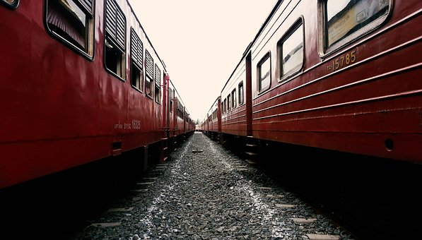 Train, Train Track, Sri Lanka, Rail Way, Scene, Ceylon