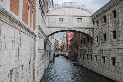 Italy, Bridge, Venice Channel